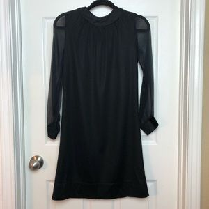 Black vintage long sleeve dress
